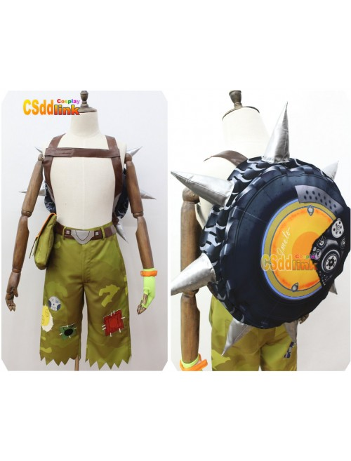 Overwatch Junkrat Cosplay Costume with bag custom-size