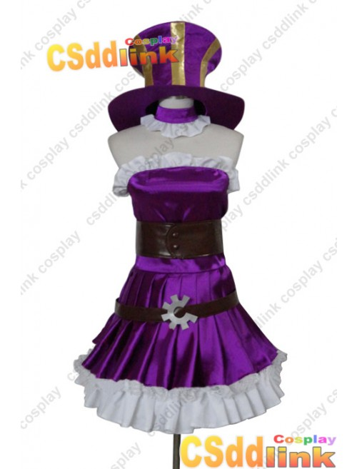 LOL league of legends Caitlyn cosplay costume purple custom-size