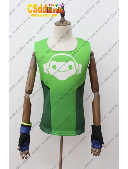 Overwatch lucio Cosplay Costume T-Shirt with Gloves custom-size