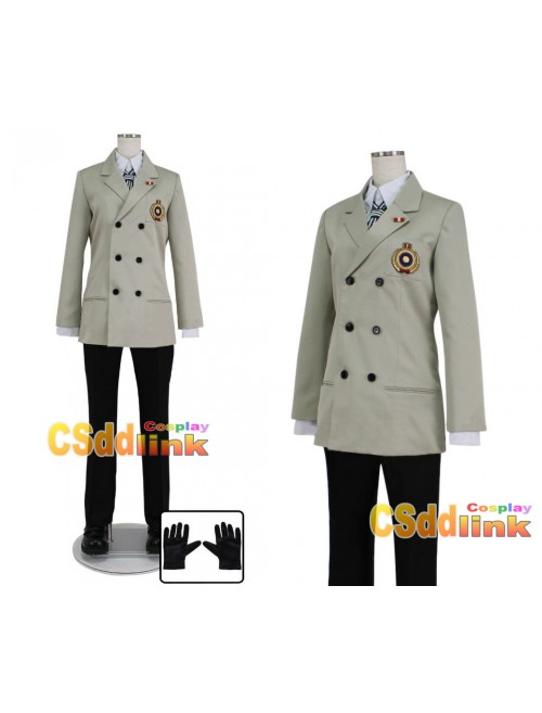 Persona 5 cosplay costume Goro Akechi outfit cosplay costume with gloves custom-size