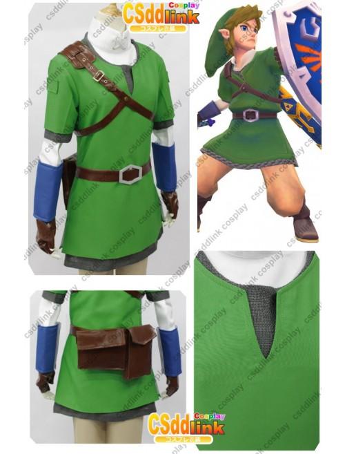 The legend of zelda skyward sword Link Cosplay Costume custom-size