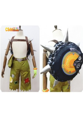 Overwatch Junkrat Cosplay Costume with bag custom-size