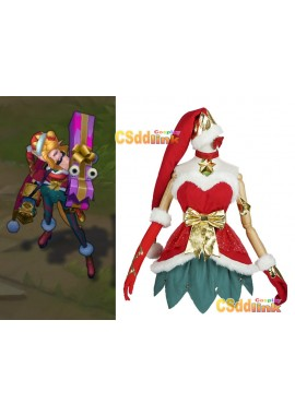 LOL league of legends jinx Cosplay costume Christmas with stockings custom-size