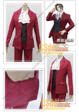 Ace Attorney Miles Edgeworth Cosplay Costume custom-size