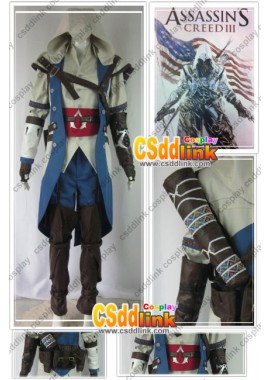 Assassin's Creed 3 III EZIO Cosplay Costume Male Outfit custom-size