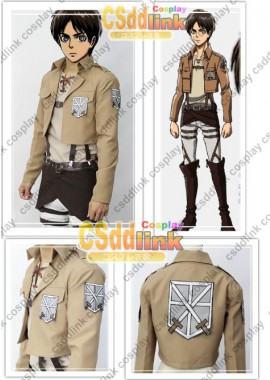 Attack on Titan Eren Jaeger cosplay costume custom-size