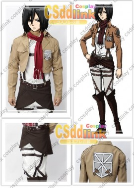 Attack on Titan Mikasa Ackerman cosplay costume custom-size