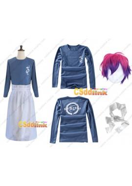 Shokugeki no souma san no sara Soma Yukihira cosplay costume with wig