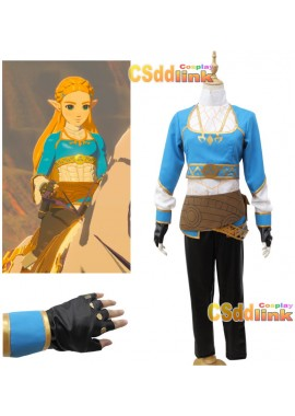 The Legend of Zelda Breath of the wild Princess Zelda Cosplay Costume3421