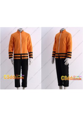 Boruto father naruto cosplay costume orange long sleeve shirt and pants custom-size