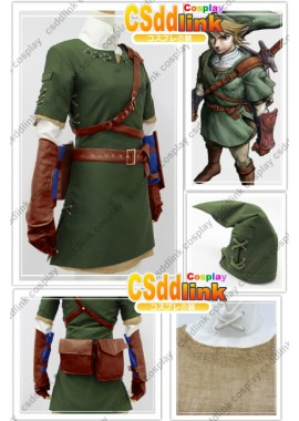 the legend of zelda twilight princess link original green cosplay costume custom-size