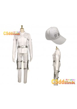 Cells at Work!l U-1146 White Blood Cell Hakkekkyu Cosplay costume white custom-size