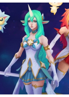 LOL League of Legends Soraka Star Guardian Jumpsuit Pajamas Suit Cosplay Costume custom-size