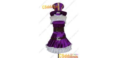 LOL league of legends Caitlyn cosplay costume purple custom-size