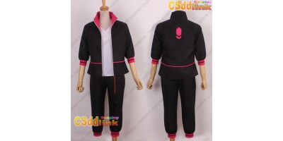 Unisex Boruto cosplay costume black with bag custom-size