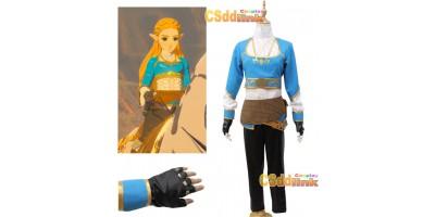 The Legend of Zelda Breath of the wild Princess Zelda Cosplay Costume3421