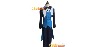 Gravity falls will Cipher Human Cosplay Costume Blue custom-size