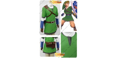 The legend of zelda skyward sword Link Cosplay Costume custom-size