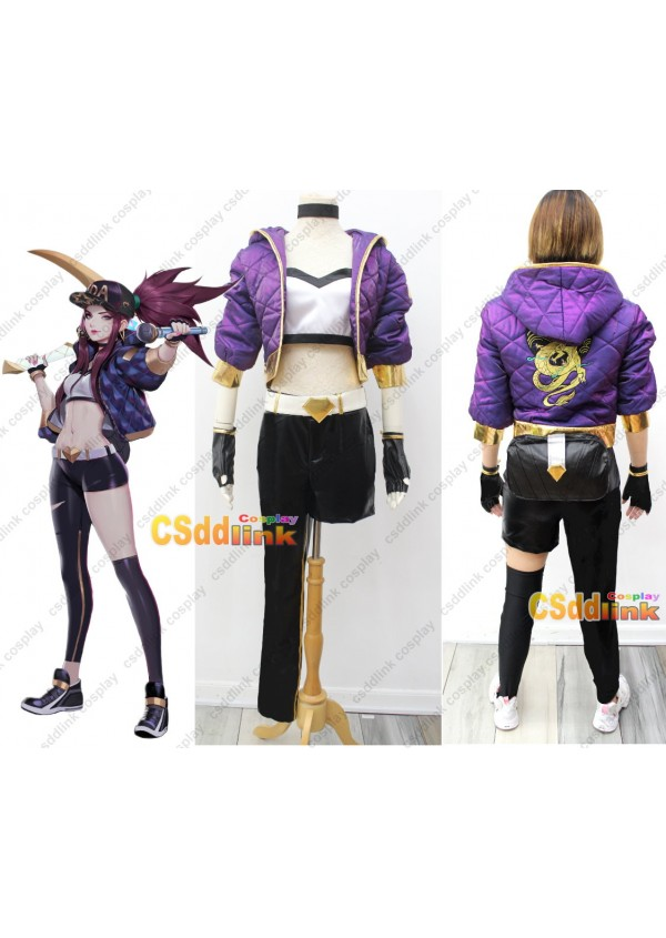 League of Legends LOL Akali K/DA cosplay costume custom-size