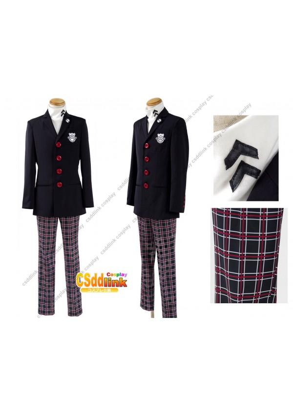 Persona 5 Kaitou Cosplay Costume Protagonist Uniform Coat Shirt Pants custom-size