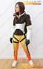 OVERWATCH Tracer Fanart Cosplay Costume with glasses